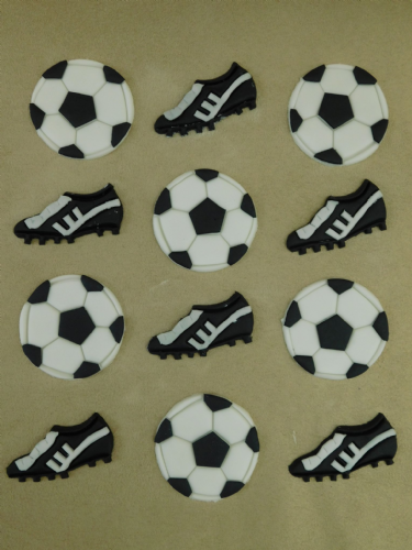 12 Football & Boots Cupcake Toppers